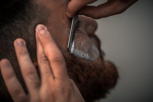Shaving beard